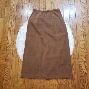 NWOT L.L. Bean Women's Brown Maxi Skirt